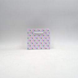 Sac papier Noblesse (livraison en 15 jours)16x8x14 CM | SAC PAPIER NOBLESSE | IMPRESSION OFFSET SUR L'ENSEMBLE DU SAC