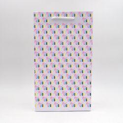 Sac papier Noblesse (livraison en 15 jours)22x10x38 CM | SAC PAPIER NOBLESSE | IMPRESSION OFFSET SUR L'ENSEMBLE DU SAC
