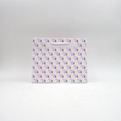 Sac papier Noblesse (livraison en 15 jours)25x11x20 CM | SAC PAPIER NOBLESSE | IMPRESSION OFFSET SUR L'ENSEMBLE DU SAC