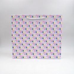 Noblesse personalisierte Papiertüte 40x14x35 cm | NOBLESSE PAPIERTÜTE | 4 SEITEN OFFSETDRUCK
