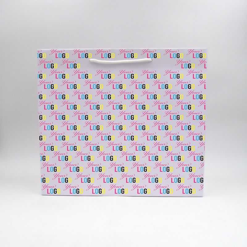 Shopping bag Noblesse (delivery in 15 days)40x14x35 CM   NOBLESSE PAPER BAG   OFFSET PRINTING ALL OVER