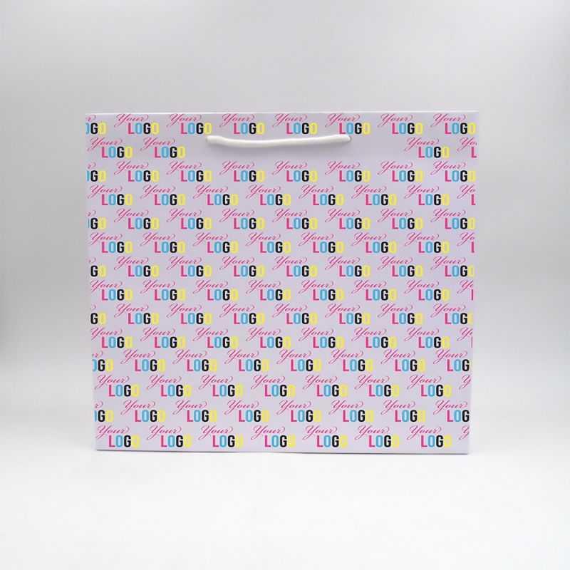 Sac papier Noblesse (livraison en 15 jours)40x14x35 CM | SAC PAPIER NOBLESSE | IMPRESSION OFFSET SUR L'ENSEMBLE DU SAC
