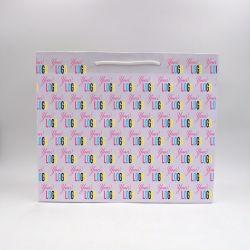 Sac papier Noblesse (livraison en 15 jours)42x15x35 CM | SAC PAPIER NOBLESSE | IMPRESSION OFFSET SUR L'ENSEMBLE DU SAC