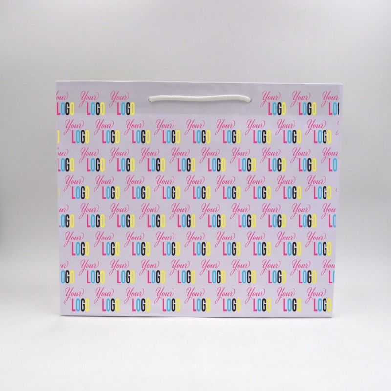 Shopping bag personalizzata Noblesse 42x15x35 CM | SHOPPING BAG NOBLESSE | STAMPA OFFSET SULL'INTERA SUPERFICIE