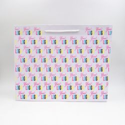 Shopping bag Noblesse (delivery in 15 days)45x14x36 CM | NOBLESSE PAPER BAG | OFFSET PRINTING ALL OVER