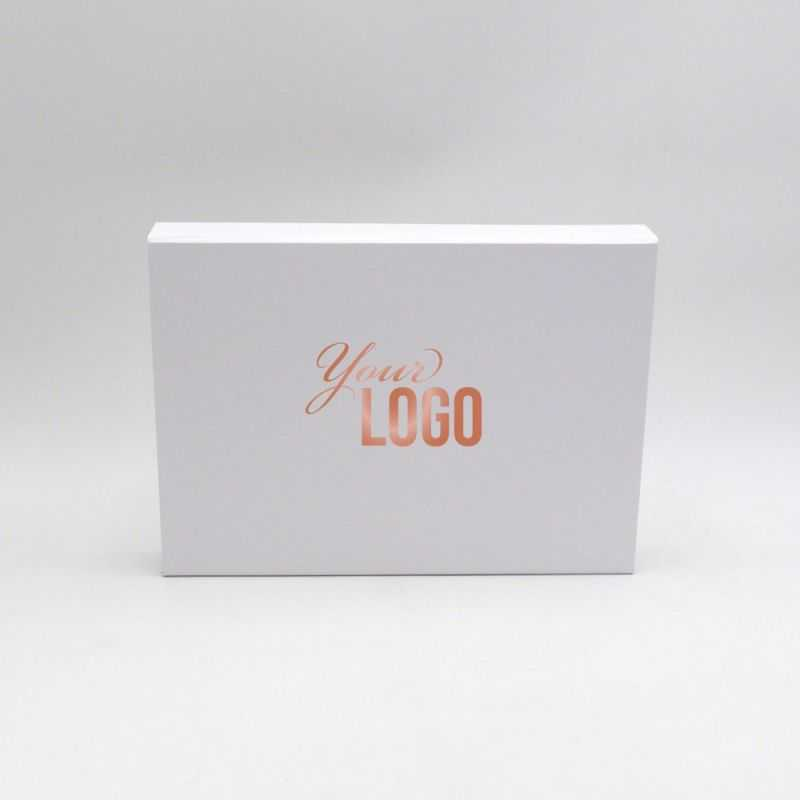 Customized Personalized Magnetic Box Flatbox 31x22x4 CM   EVOBOX   HOT FOIL STAMPING