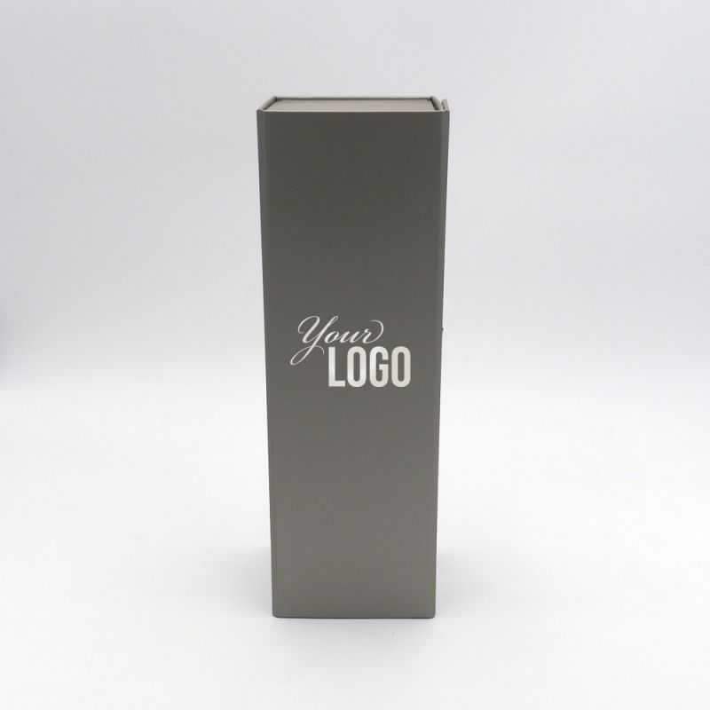 Caja magnética Bottlebox (entrega en 15 días)10x33x10 CM | BOTTLE BOX |CAJA PARA 1 BOTELLA | ESTAMPADO EN CALIENTE