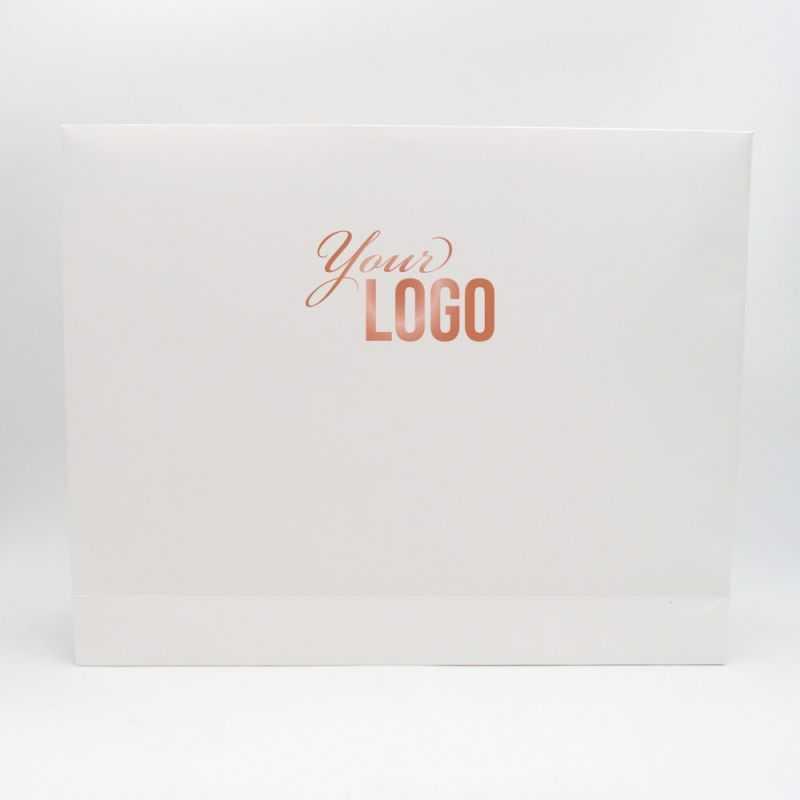 Pochette papier personnalisée Noblesse 52x11x42 CM | POCHETTE PAPIER NOBLESSE | IMPRESSION A CHAUD