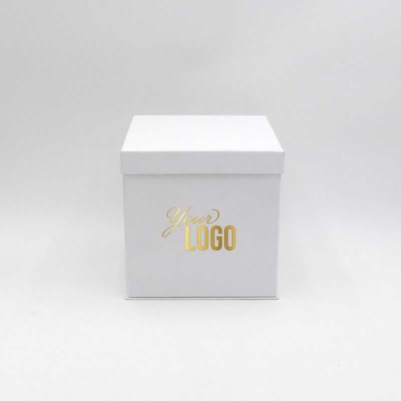 Customized Personalized foldable box Flowerbox 18x18x18 CM | FLOWERBOX |HOT FOIL STAMPING