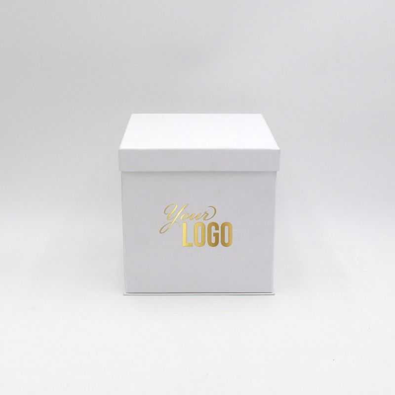Boîte cloche personnalisée Flowerbox 18x18x18 CM | FLOWERBOX |IMPRESSION À CHAUD