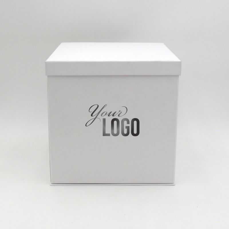 Boîte cloche personnalisée Flowerbox 25x25x25 CM   FLOWERBOX  IMPRESSION À CHAUD