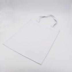 Kundenspezifische wiederverwendbare Baumwolltasche 38x42 CM | BAUMWOLLE TOTE TASCHE | ZWEI-SEITIGER SIEBDRUCK IN ZWEI FARBEN