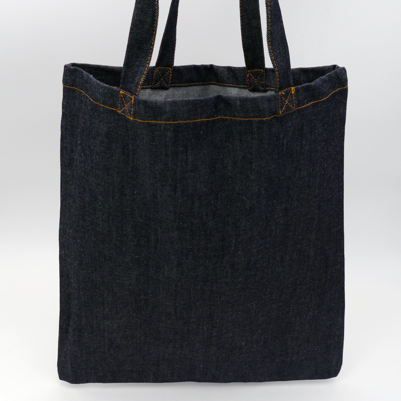 Denim Bag (15 days delivery)38x42 CM | TOTE DENIM BAG | SCREEN PRINTING ON TWO SIDES IN ONE COLOUR