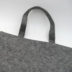 Gepersonaliseerde Gepersonaliseerde herbruikbare vilten draagtas 41x41 +7 CM   VILTEN TOTE BAG   ZEEFBEDRUKKING AAN 2 ZIJDEN ...
