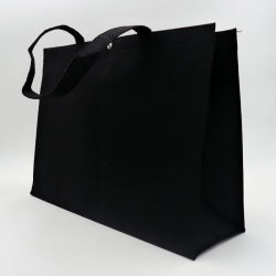 Personalisierte wiederverwendbare Filztasche 45x13x33 CM | FILT SHOPPING BAG | ZWEI-SEITIGER SIEBDRUCK IN EINER FARBE