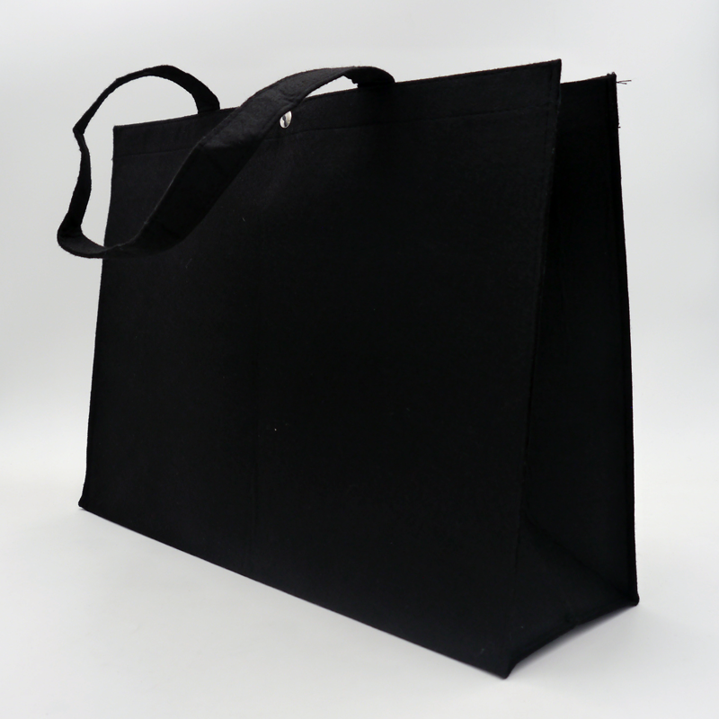 Borsa in feltro (consegna in 15 giorni)45x13x33 CM   SHOPPING BAG IN FELTRO   STAMPA SERIGRAFICA SU DUE LATI IN UN COLORE
