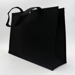 Personalisierte wiederverwendbare Filztasche 45x13x33 CM | FILT SHOPPING BAG | SIEBDRUCK AUF EINER SEITE IN ZWEI FARBEN