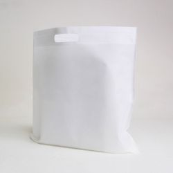 Customized Sac en tissu non tissé personnalisé 50x50 CM   NON-WOVEN TNT DKT BAG  SCREEN PRINTING ON ONE SIDE IN TWO COLORS