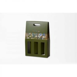 Wijndoos Winebox28x42x9 CM | SCATOLA PORTABOTTIGLIE| STAMPA OFFSET