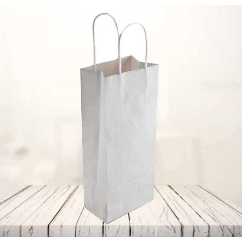Safari kraft paper bag14x8x39 CM | SHOPPING BAG SAFARI | FLEXO PRINTING IN TWO COLOURS ON FIXED AREAS