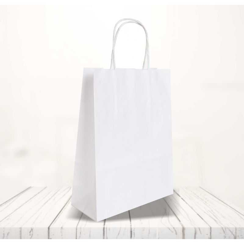 Safari kraft paper bag26x12x34 CM   SHOPPING BAG SAFARI   FLEXO PRINTING IN ONE COLOR ON FIXED AREAS