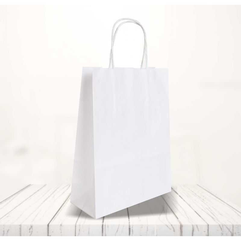 Safari kraft paper bag22x10x28 CM | SHOPPING BAG SAFARI | FLEXO PRINTING IN ONE COLOR ON FIXED AREAS