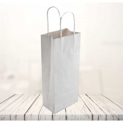 Safari kraft paper bag14x8x39 CM | SHOPPING BAG SAFARI | FLEXO PRINTING IN ONE COLOR ON FIXED AREAS