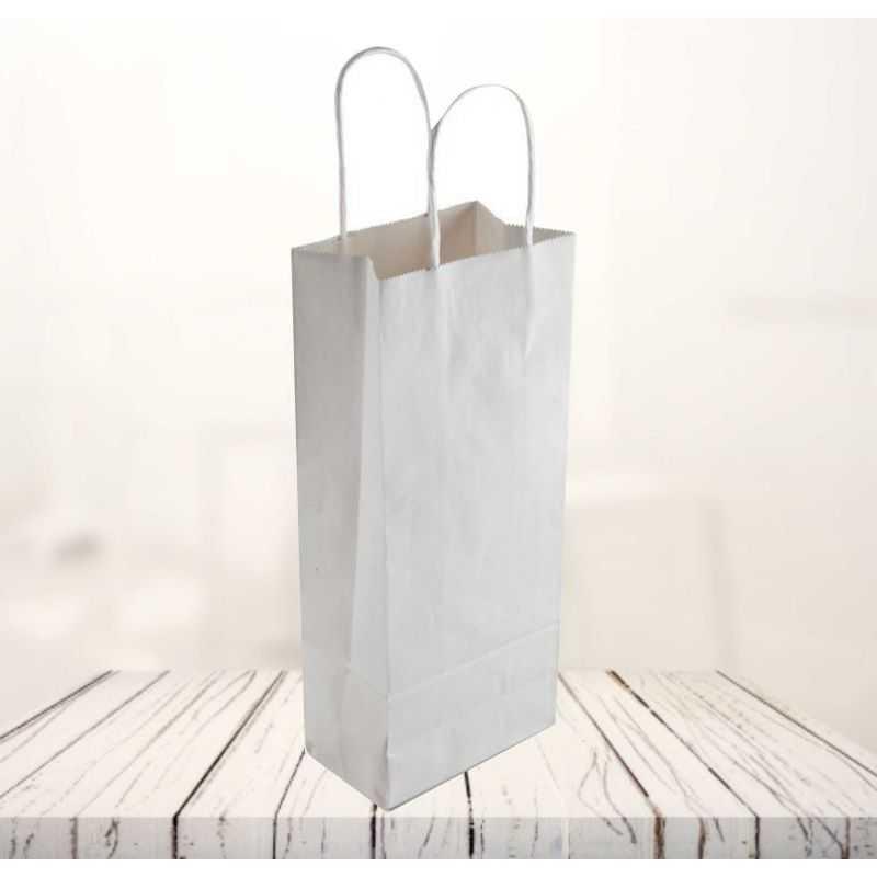 Safari kraft paper bag14x8x39 CM   SHOPPING BAG SAFARI   FLEXO PRINTING IN ONE COLOR ON FIXED AREAS
