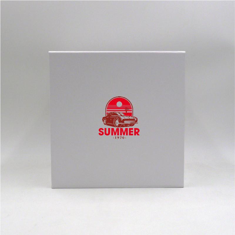 Magnetic box Cubox (delivery in 15 days)22x22x22 CM   CUBOX   SCREEN PRINTING ON ONE SIDE IN TWO COLOURS