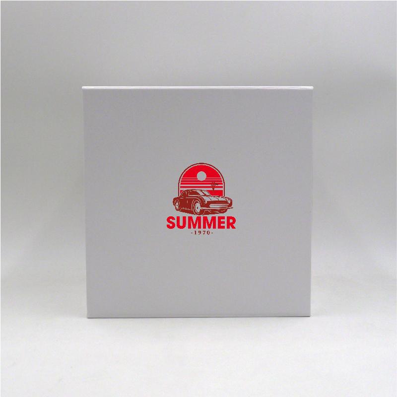 Scatola magnetica personalizzata Cubox 22x22x22 CM   CUBOX   STAMPA SERIGRAFICA SU UN LATO IN DUE COLORI