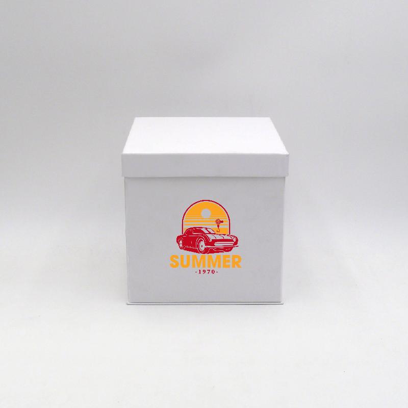 Scatola Flowerbox (consegna in 15 giorni)18x18x18 CM   FLOWERBOX   STAMPA SERIGRAFICA SU UN LATO IN DUE COLORI