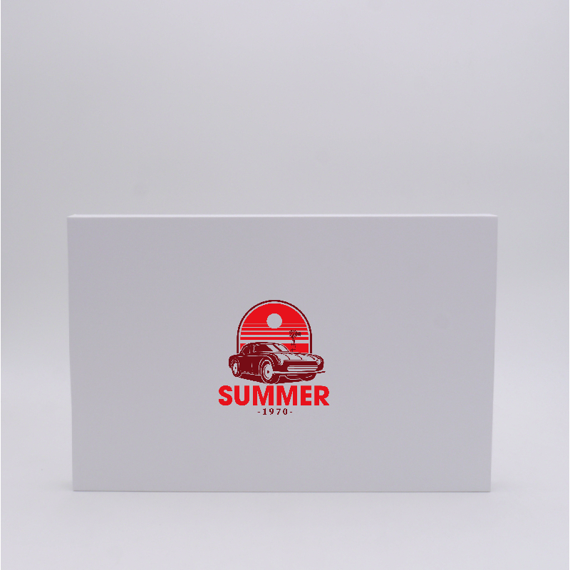 Magnetic box Hingbox (delivery in 15 days)35x23x2 CM | HINGBOX | SCREEN PRINTING ON ONE SIDE IN TWO COLOURS