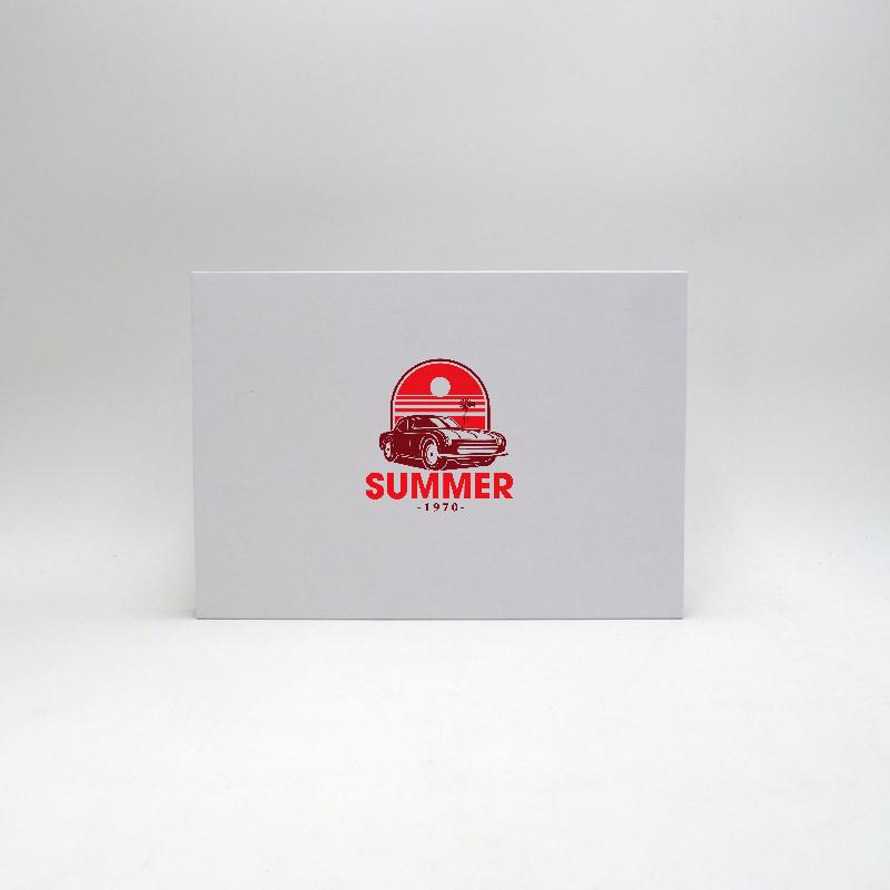 Scatola magnetica personalizzata Hingbox 30x21x2 CM | HINGBOX | STAMPA SERIGRAFICA SU UN LATO IN DUE COLORI