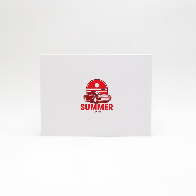 Scatola magnetica personalizzata Hingbox 21x15x2 CM | HINGBOX | STAMPA SERIGRAFICA SU UN LATO IN DUE COLORI