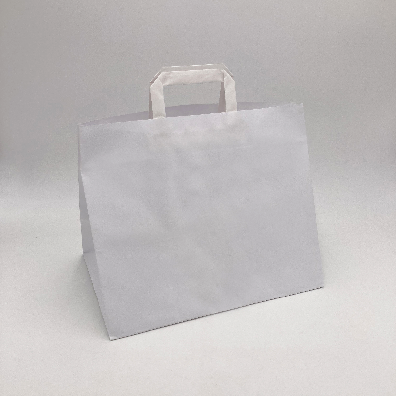 Box kraft paper bag26x17x25 CM | SHOPPING BAG BOX | FLEXO PRINTING IN TWO COLOURS ON FIXED AREAS