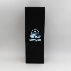 Boîte magnétique Bottlebox (livraison en 15 jours)12x40,5x12 CM | BOTTLE BOX | BOÎTE POUR 3 BOUTEILLES | IMPRESSION EN SÉRIGR...
