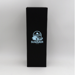 Magneet doos bottlebox12x40,5x12 CM   BOTTLE BOX   DOOS VOOR 3 FLESSEN   ZEEFBEDRUKKING OP 1 ZIJDE IN 1 KLEUR
