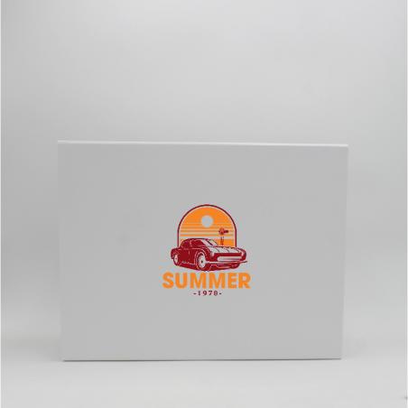 Caja magnética personalizada Wonderbox 43x31x5 CM | WONDERBOX (EVO) | IMPRESIÓN SERIGRÁFICA DE UN LADO EN DOS COLORES