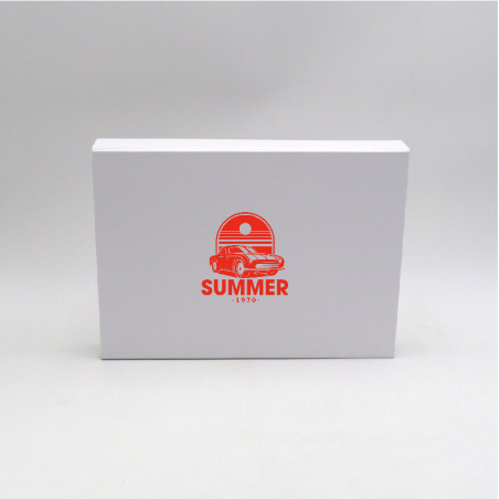 Boîte aimantée personnalisée Wonderbox 31x22x4 CM | WONDERBOX (EVO) | IMPRESSION EN SÉRIGRAPHIE SUR UNE FACE EN UNE COULEUR