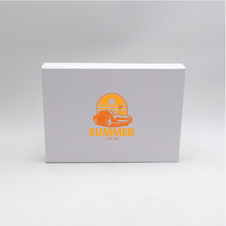Boîte aimantée personnalisée Wonderbox 31x22x4 CM | WONDERBOX (EVO) | IMPRESSION EN SÉRIGRAPHIE SUR UNE FACE EN DEUX COULEURS