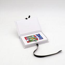 Scatola magnetica Porta Card (consegna in 15 giorni)12x7x2 CM | CONCORDE | STAMPA SERIGRAFICA SU UN LATO IN DUE COLORI