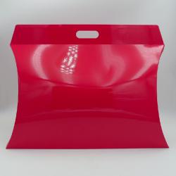 Caja Almohada (entrega en 15 días)55x38x10 CM   CAJA ALMOHADA   IMPRESIÓN SERIGRÁFICA DE UN LADO EN DOS COLORES