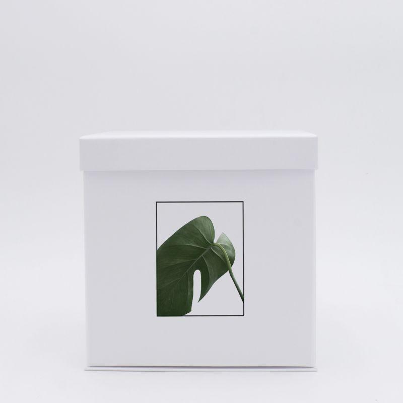 Customized Personalized foldable box Flowerbox 18x18x18 CM | FLOWERBOX |DIGITAL PRINTING ON FIXED AREA