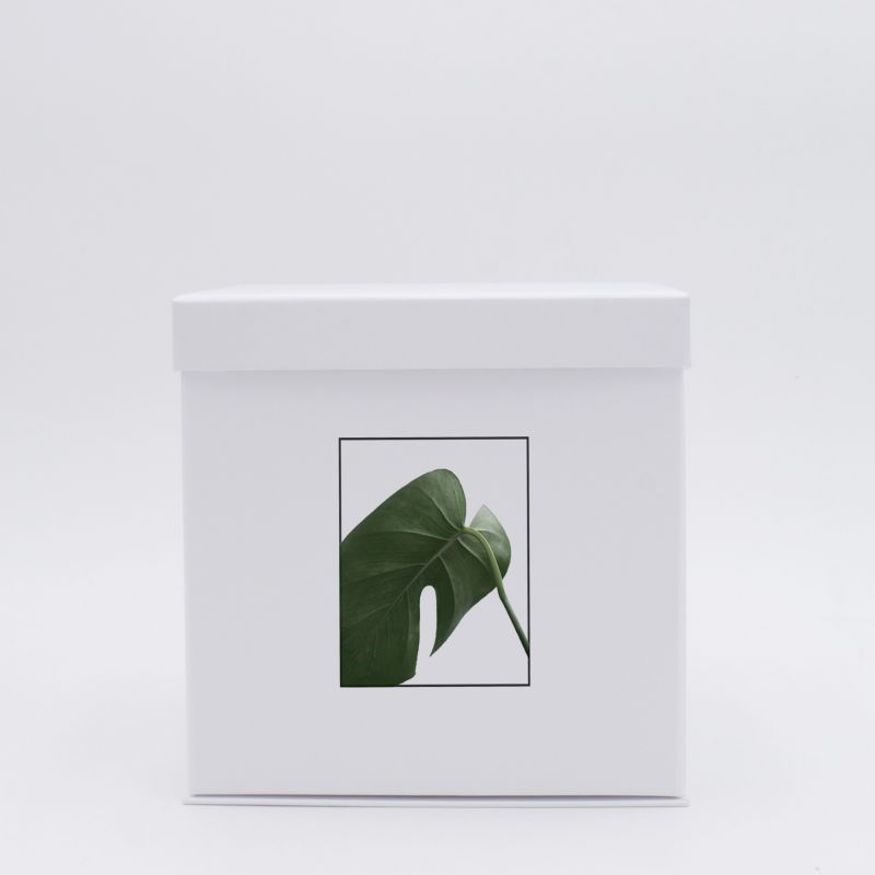 Scatola Flowerbox (consegna in 15 giorni)18x18x18 CM | FLOWERBOX |STAMPA DIGITALE SU AREA PREDEFINITA