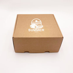 Customized Personalized Shipping Box Postpack 31,5x22,5x3 CM | POSTPACK | SCREEN PRINTING ON ONE SIDE IN ONE COLOUR