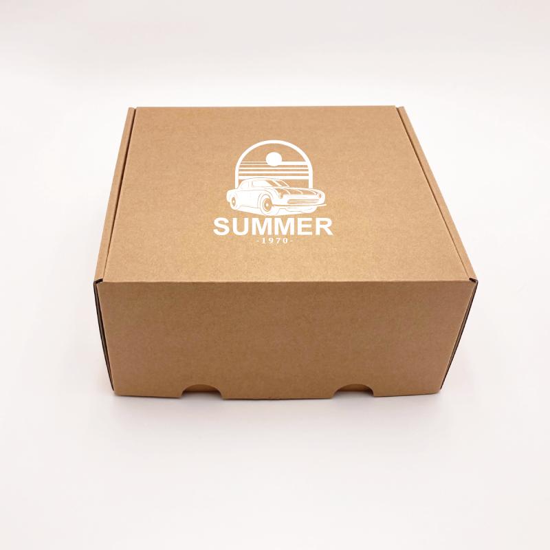 Scatola di spedizione personalizzata Postpack 25x23x11 CM | POSTPACK | STAMPA SERIGRAFICA SU UN LATO IN UN COLORE
