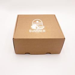 Scatola di spedizione personalizzata Postpack 16,5x12,5x3 CM | POSTPACK | STAMPA SERIGRAFICA SU UN LATO IN UN COLORE