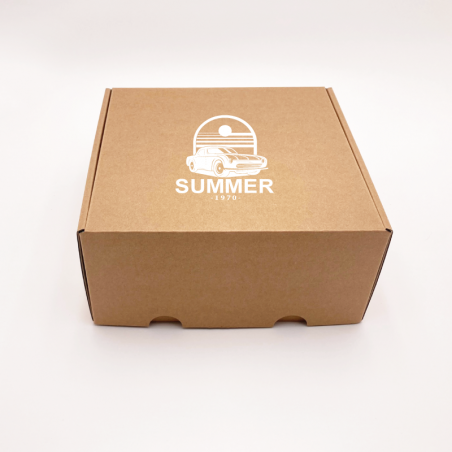 Customized Personalized Shipping Box Postpack 16,5x12,5x3 CM   POSTPACK   SCREEN PRINTING ON ONE SIDE IN ONE COLOUR