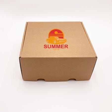 Caja de envío Postpack estándar 16,5x12,5x3 CM | POSTPACK | IMPRESIÓN SERIGRÁFICA DE UN LADO EN DOS COLORES