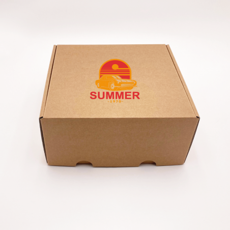 Customized Personalized Shipping Box Postpack 16,5x12,5x3 CM   POSTPACK   SCREEN PRINTING ON ONE SIDE IN TWO COLOURS